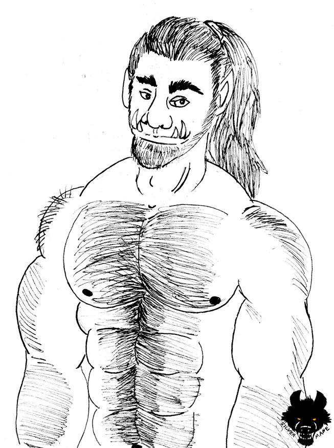 Inktober 2019 #16 Hairy Orc