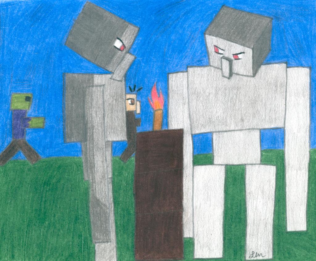 Minecraft Iron Golem Fail