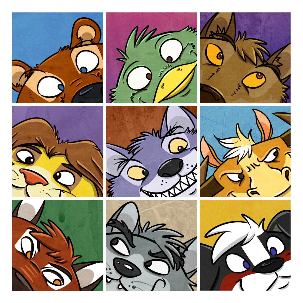 Character Collage - by Electra Nightwalker