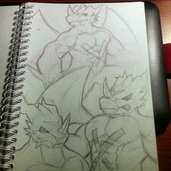 Exveemon Sketch