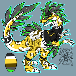 Punk utahraptor +Design+ (SOLD)