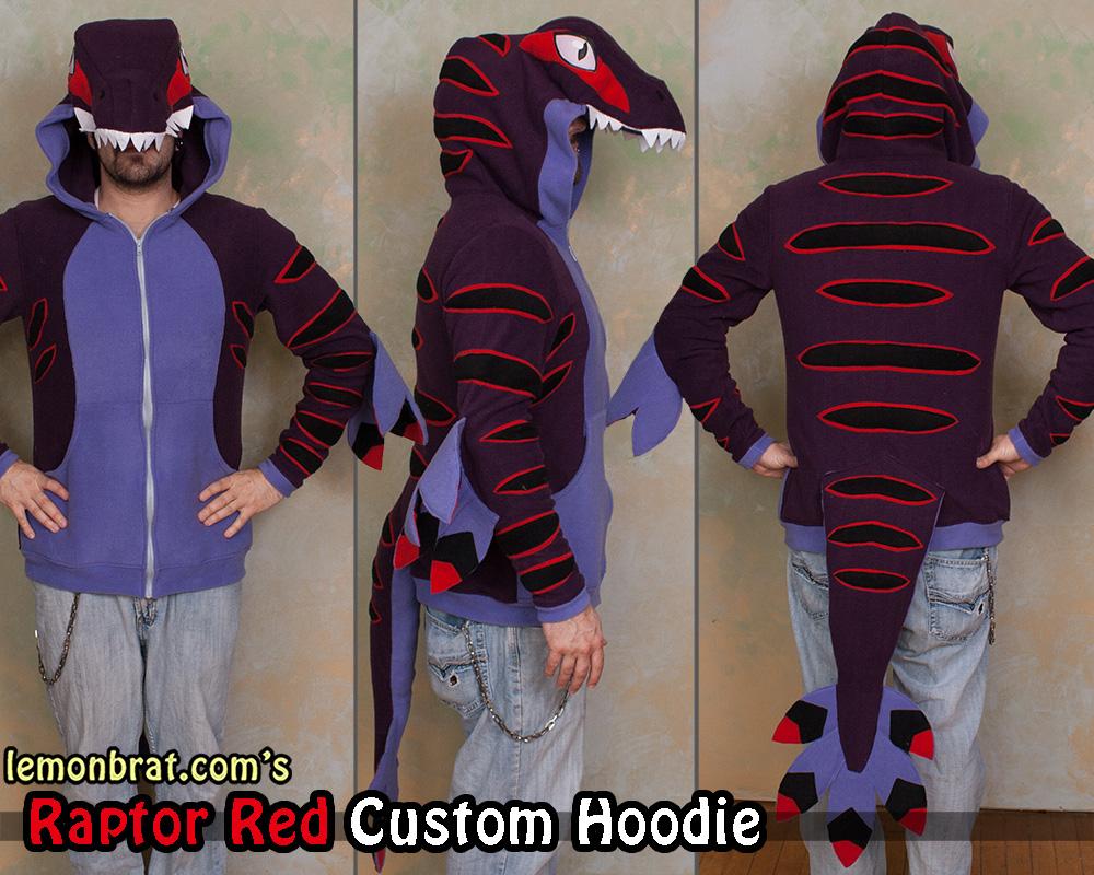Raptor Red Custom Hoodie!