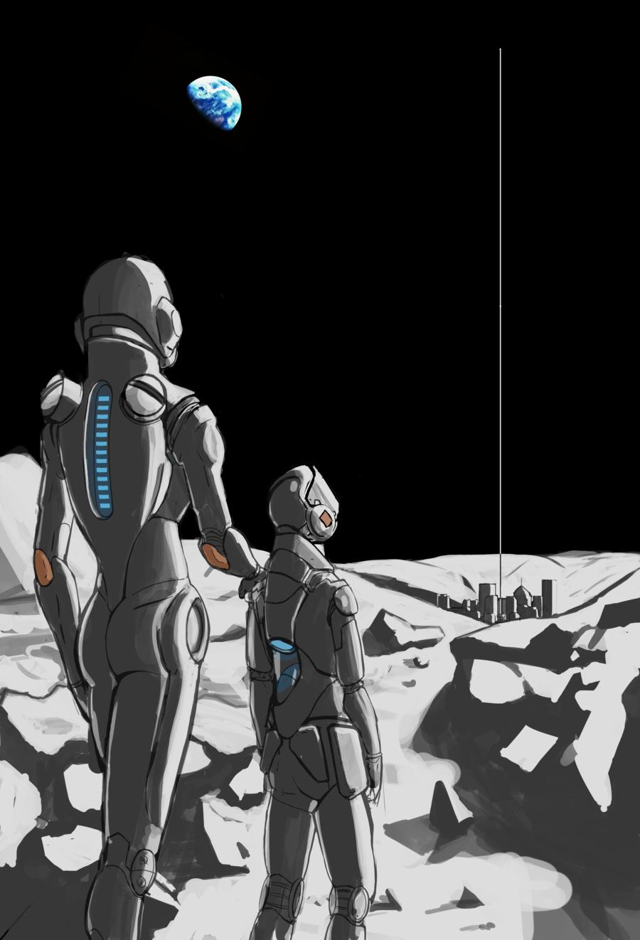Most recent image: Lunar Space Elevator