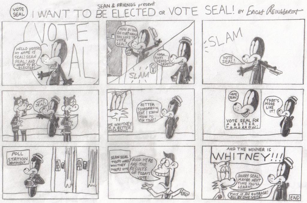 I Want To Be Elected or Vote Seal!