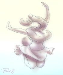 Leaping for joy!
