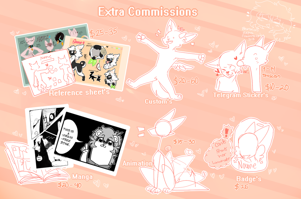 Extra commissions (OPEN)
