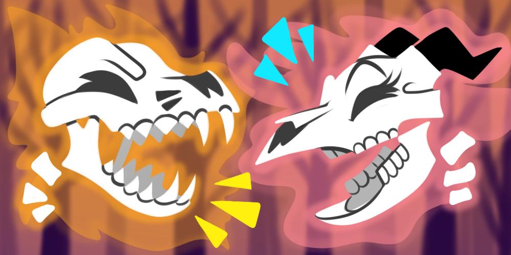 LOL Spoopy Skulls!