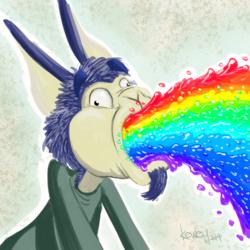 Eryshé barfing a rainbow