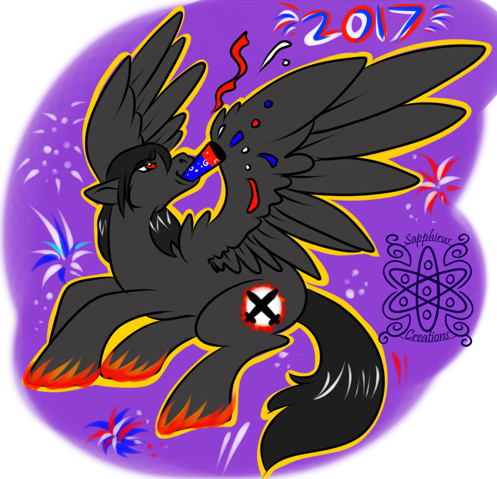 Moon Blaze 7 +Flatcolored Commission+ (New years)