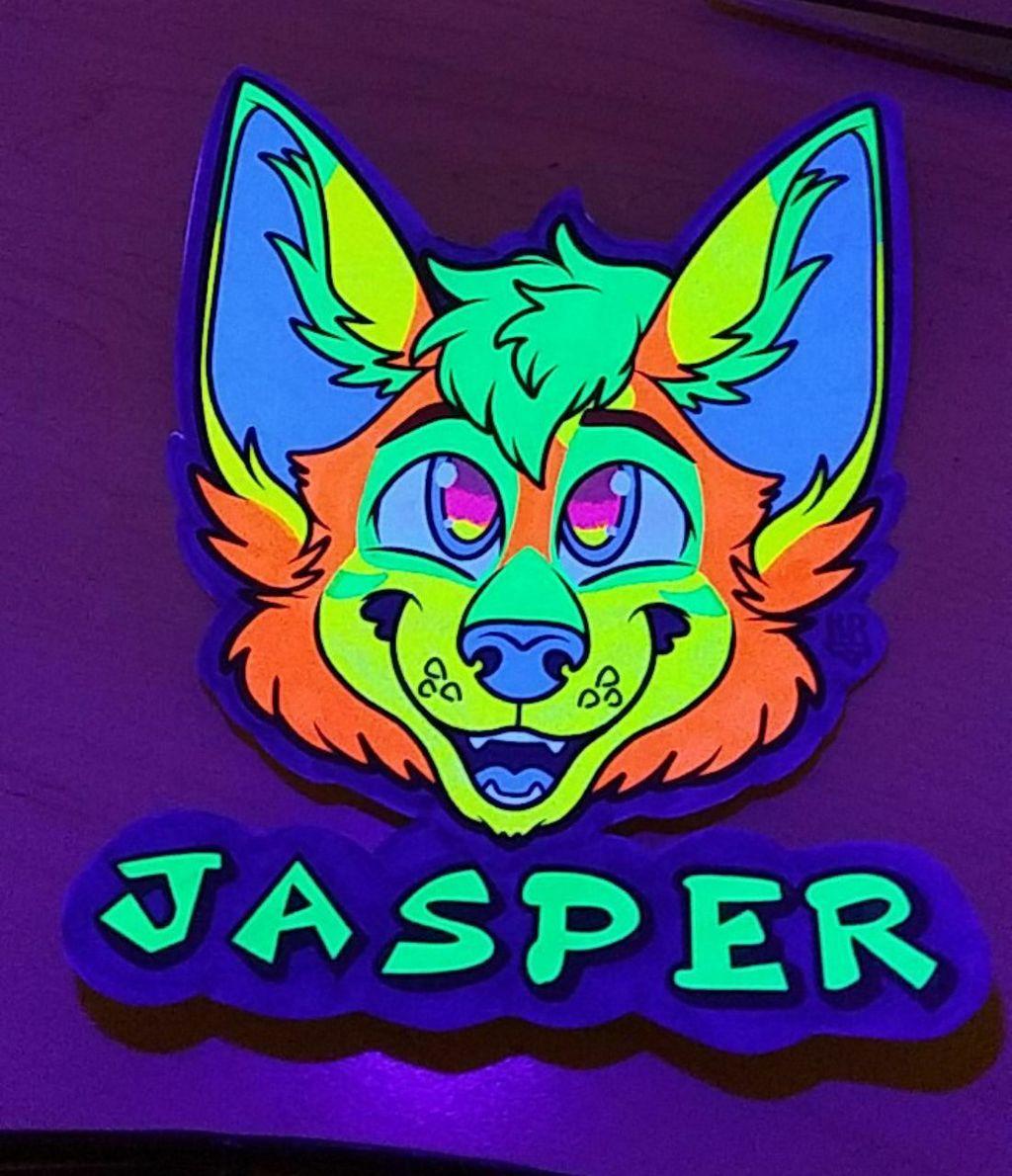 Jasper UV Badge Under Blacklight