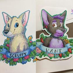 More flower badges