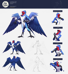 Blue Swallow - Reference Sheet Commisision