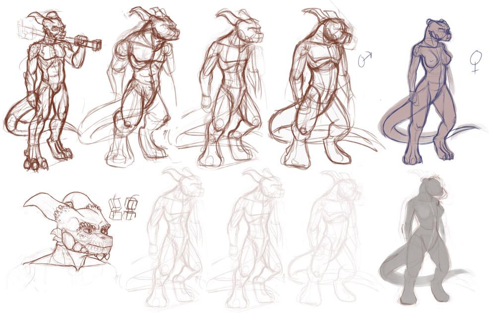 Saurian Redesign Doodles