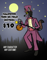 Trick Or Treat Sketches, Just $10!