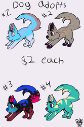 $2 dog adopt batch #1 (all open)