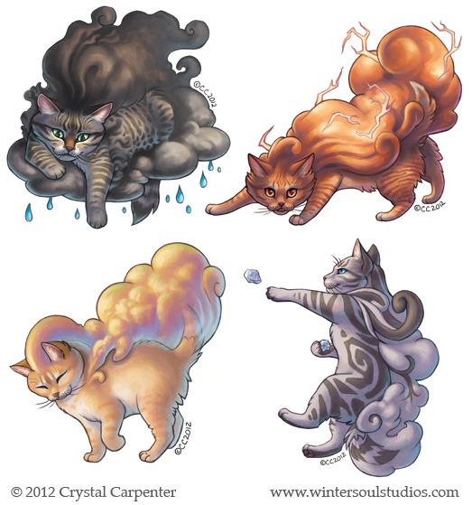 Cumulous Cats - Summer Storms