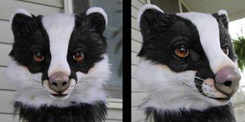 Avery the European Badger mask
