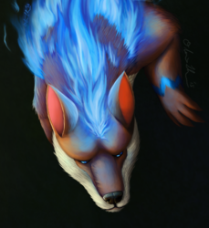 Commission - Burning Fur Spark Painting