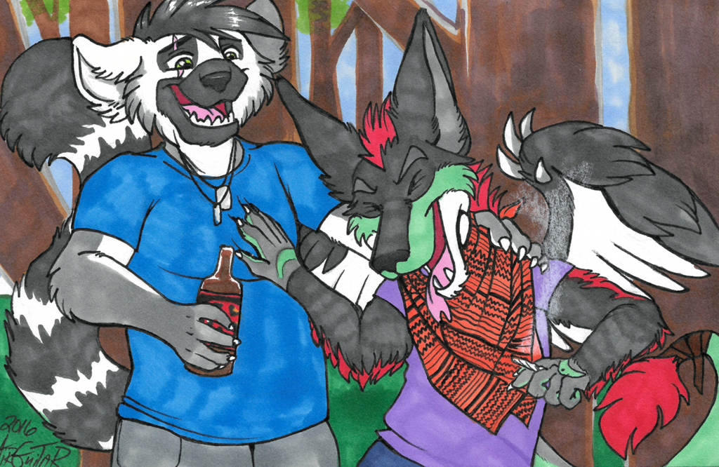 Most recent image: Woods party featuring Scraps Dragon & Joel the Lemur