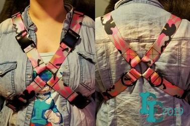 Pink Camo X Harness