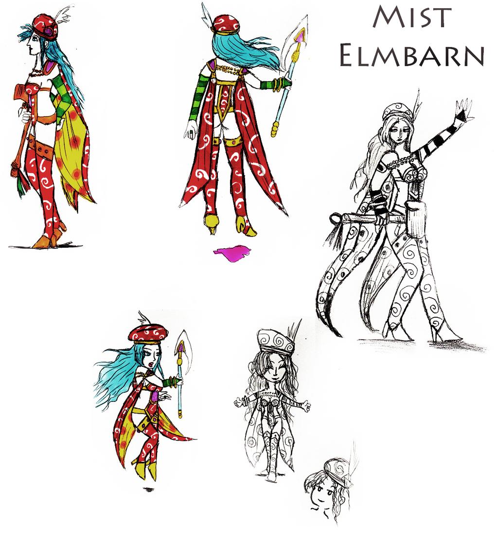 Mist's third costume design