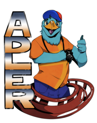 Adler coaster badge