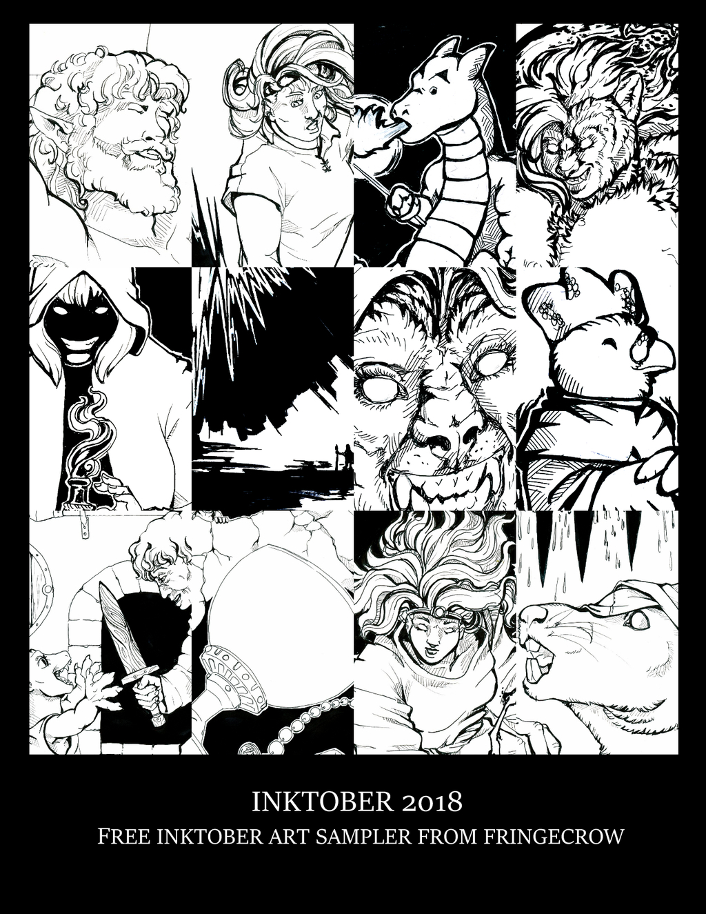Featured image: [Itch]-Inktober 2018 PWYW Art collection