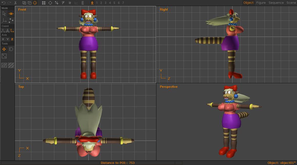 3D Modeling - Ashley Reiko Model Progress.