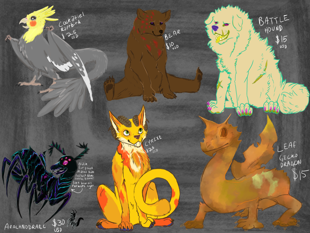 Most recent image: Adoptables!!