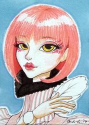 ACEO Doll Badge - Queena