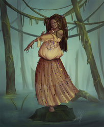 Commission - Peatrice, the Bog Witch