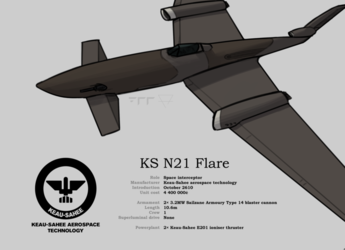 KS3 N31 Flare space fighter