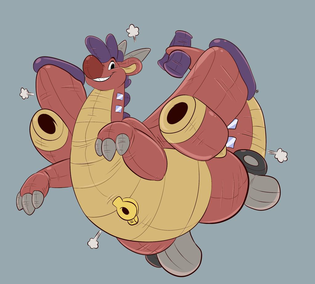Planedragon Squeak by Pastelcore
