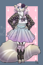 Pastel goth ragdoll (commission)