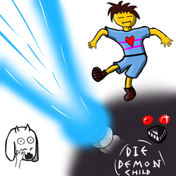 [UNDERTALE] Get dunked on, demon child.