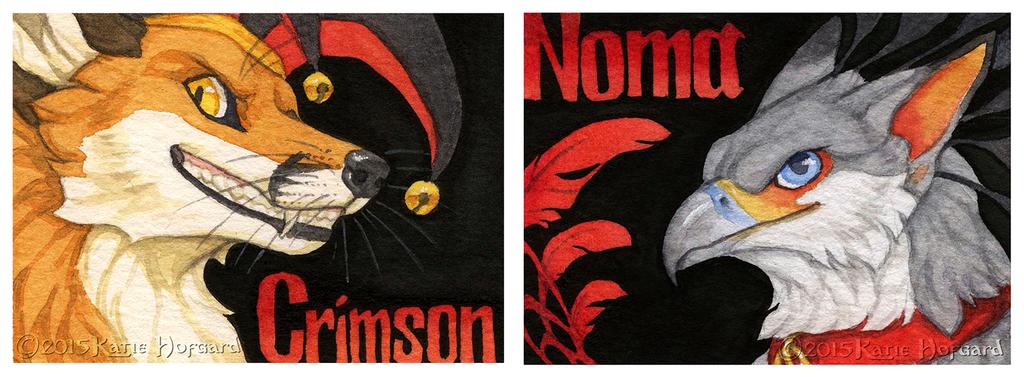 Crimson and Noma Badges