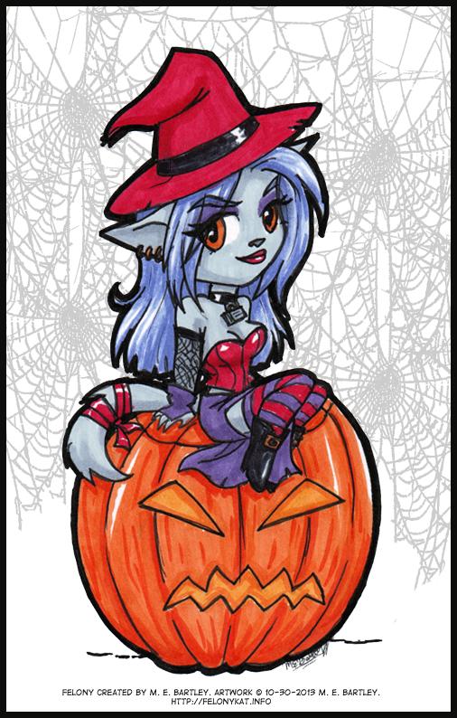 Chibi Felony (Halloween Kitty)