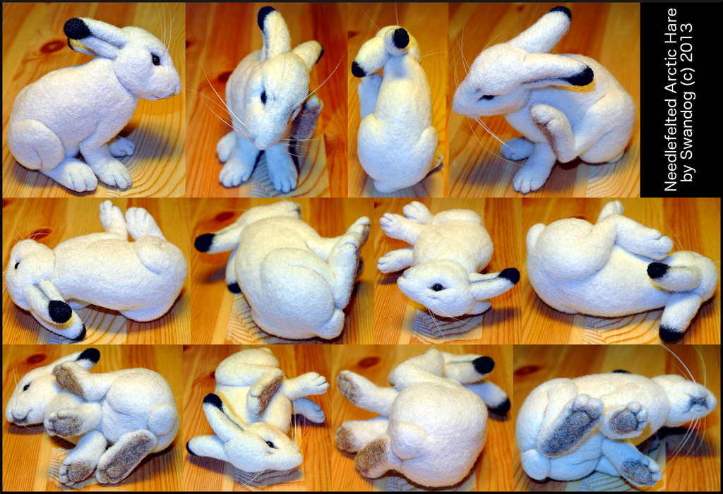 Foray into Felting: Claire the Hare