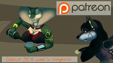Patreon Video - Group YCH WIP