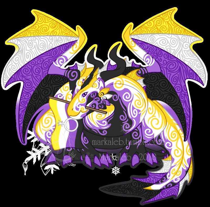 Non-Binary Pride Dragon