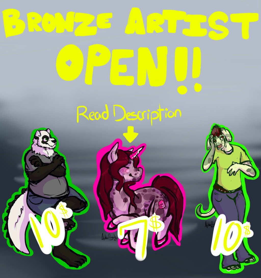BRONZE ARTIST SLOTS OPEN!