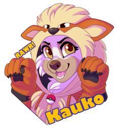 Fire Doggo Badge by Sbneko