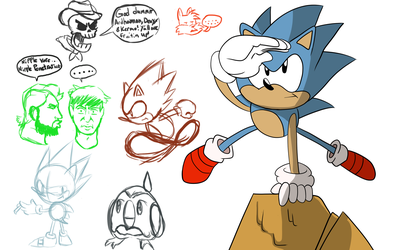 Mugi Draws Junio Sonic