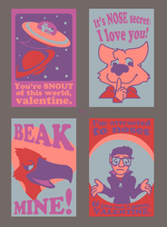 SELF PORTRAIT AS SERIES OF AWKWARD VALENTINES