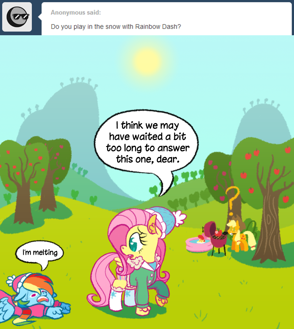 Fluttershy Replies: No snow in July