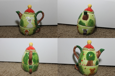 I painted a teapot!