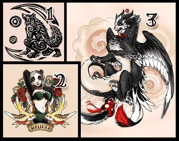 Tattoo style commissions Examples