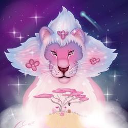 Steven Universe: Lion-art button