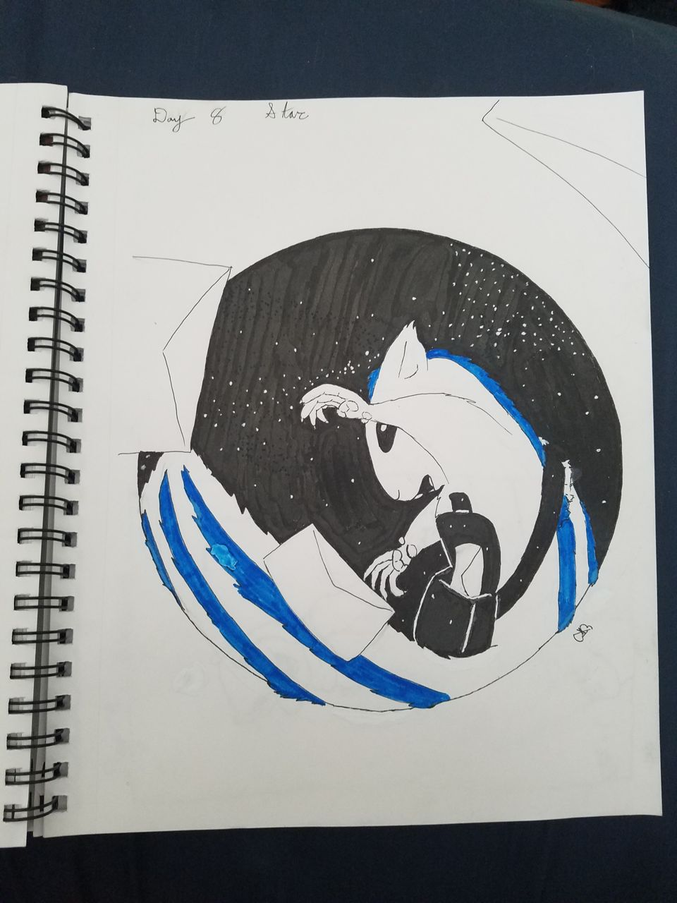 Inktober Day 8: Star; Ratatoskr