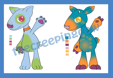 Bully and Deer Adoptables